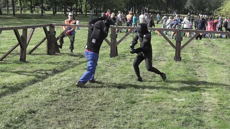 КДД 2018 HEMA 6бой Longsword Перков vs Куликов