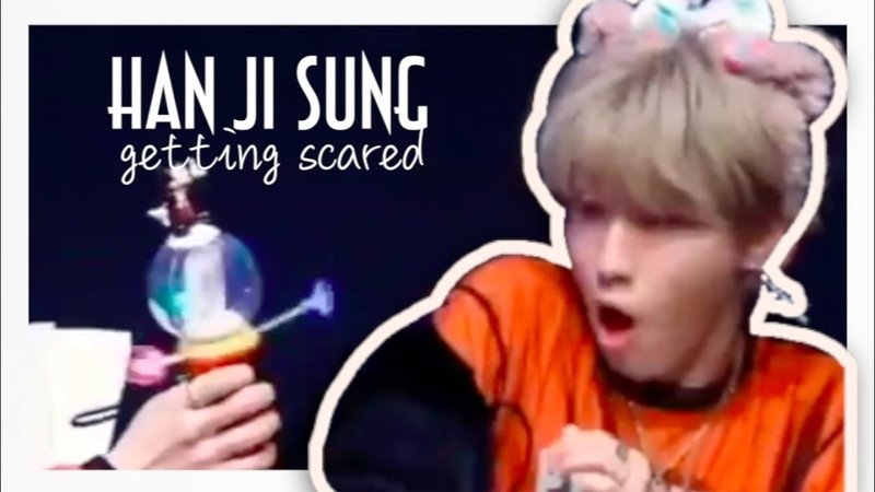 Han jisung getting scared compilation