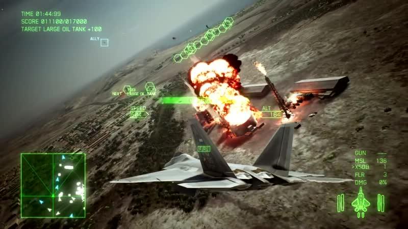 Истребитель F-22A Raptor в новом трейлере игры Ace Combat 7: Skies Unknown!