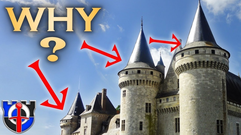 Why do medieval CASTLE roofs flare outwards