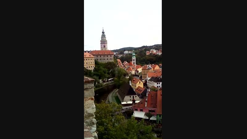 Вид на город Чешски Крумлов
