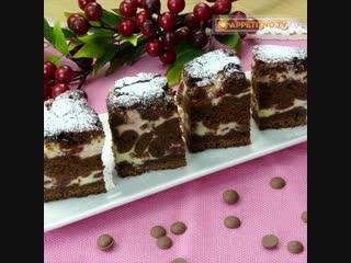 Обалденный шоколадный брауни с вишней всего за 60 минут.