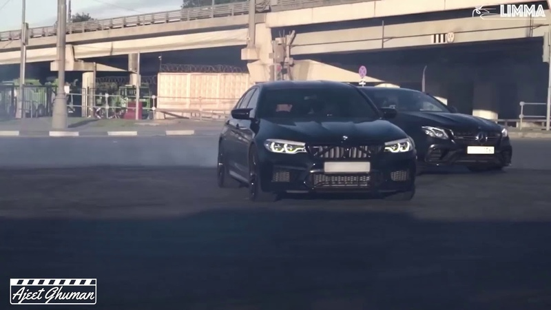 BMW M5 vs AMG Terrorizing the Russian Streets (♫ Dubstep Edition)