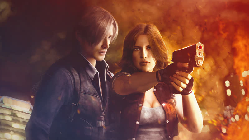 Resident evil 6 Co-op feat Nabi. Leon and Helena Company.