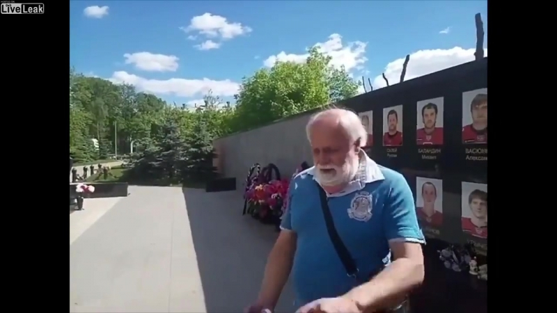 Liveleak.com - Russian father is fed up with quasi-permanent vandalisation of his son s grave