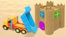 Про машинки. Мультики для малышей. Песочница и замок из песка