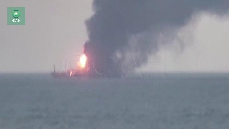 Торговое судно Maestro горит в Черном море
