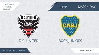 AFL19. America. Primera. Day 6. D.C. United - Boca Juniors.