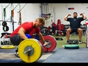 Wes Kitts Clean Jerks 210kg While the Team Prepares For the Ao3 In Las Vegas