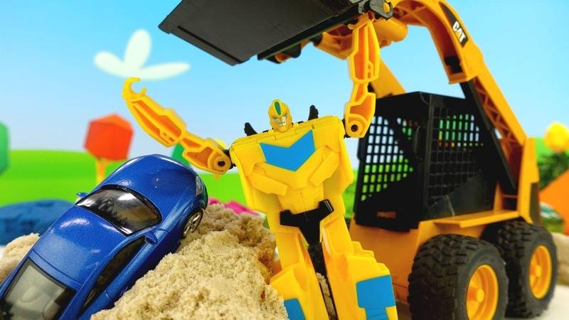 Oyuncak arabalar! Bumblebee ve Optimus Prime yarış arabası buluyorlar!