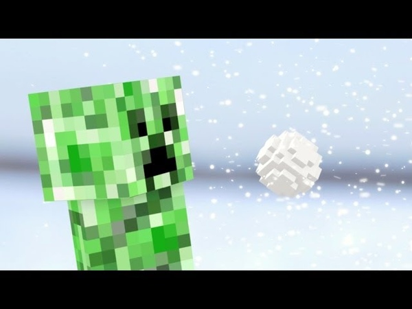 Minecraft в реальной жизни Снежки с Крипером