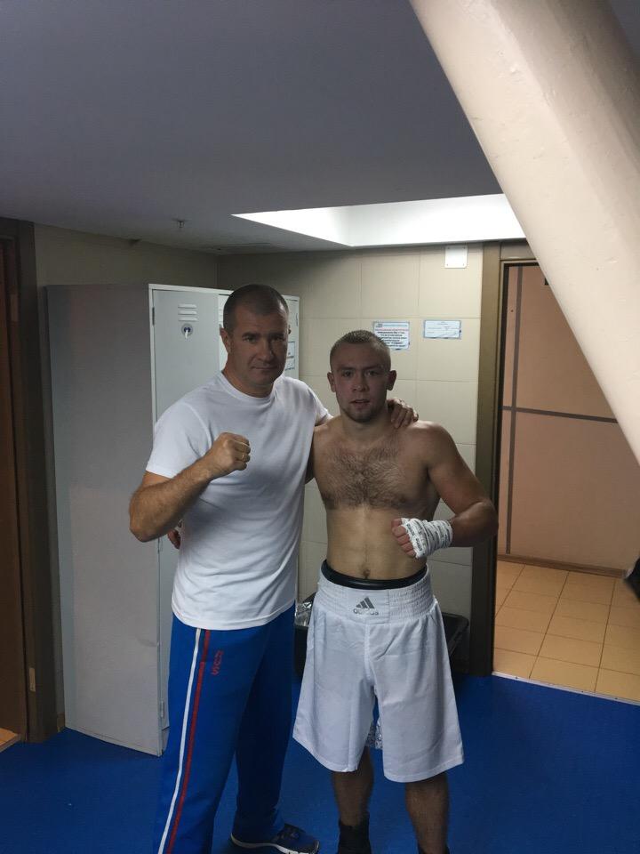 тренер Андрей Вегера и Вячеслав Летовальцев
