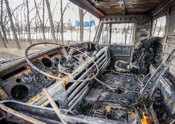 В Черкесске сгорел КамАЗ