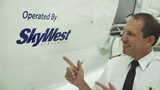 SkyWest departs with the first ever CRJ 900 fitted with the ATMOSPH