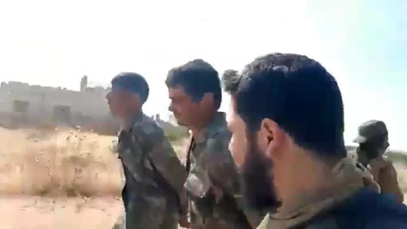 Bugün Mücahitlerin kuzey Hamada esir aldığı 2 Rejim milisi