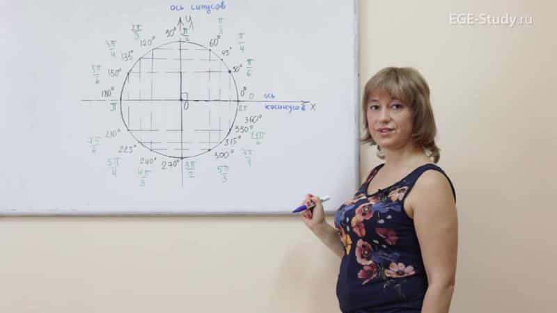 04. Тригонометрический круг. Табличные значения