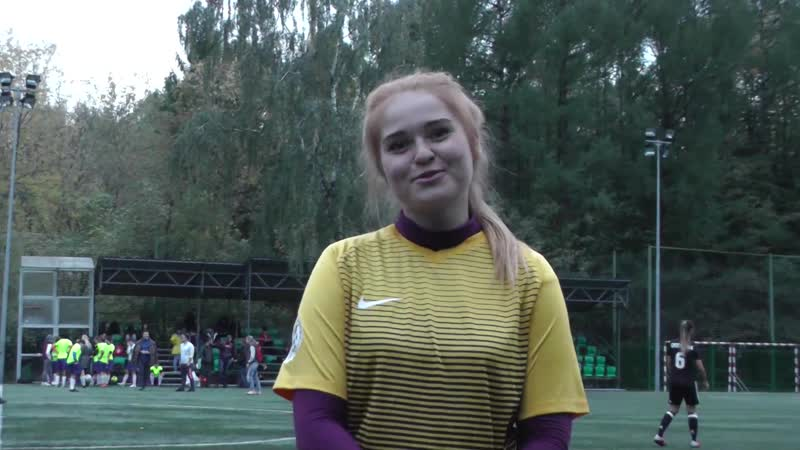 Вратать Надежды Лысова Екатерина в перерыве матча с Аэрофлотом