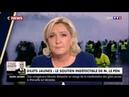 Gilets jaunes : Regardez Marine Le Pen qui s'adresse directement, en plein 20h sur TF1, à Emmanuel