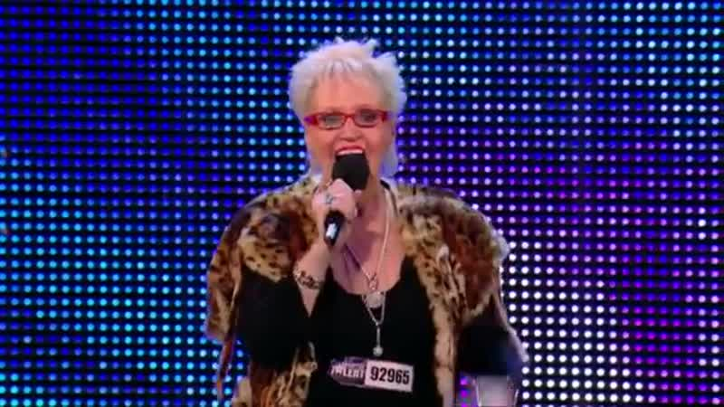 Kelly Fox shocks and rocks Britains Got Talent 2013 Kiss My Ass