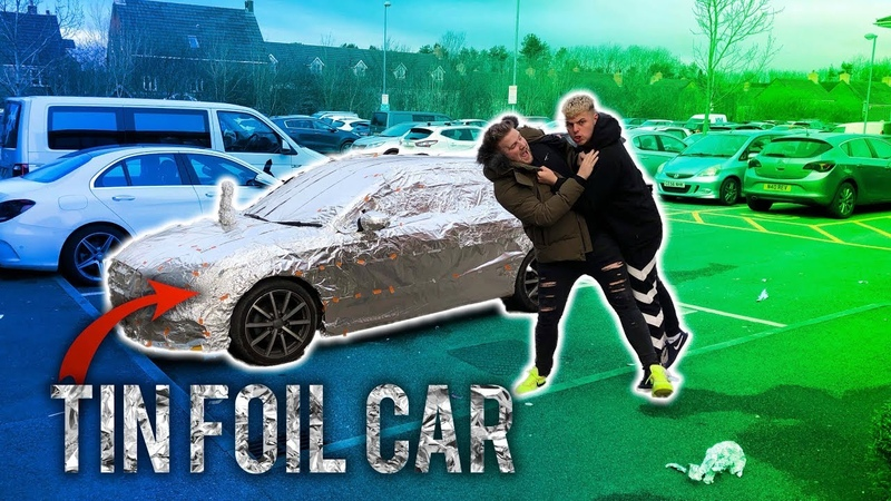WRAPPED MY BROS CAR IN 1000 METERS OF TIN FOIL