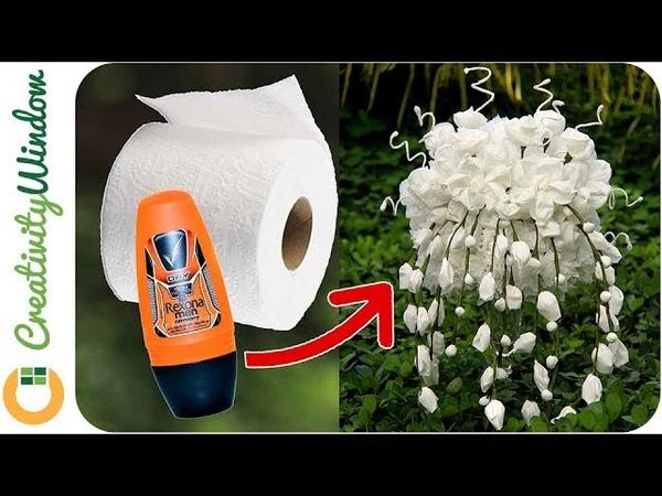 7 Toilet Paper Flowers Tutorial