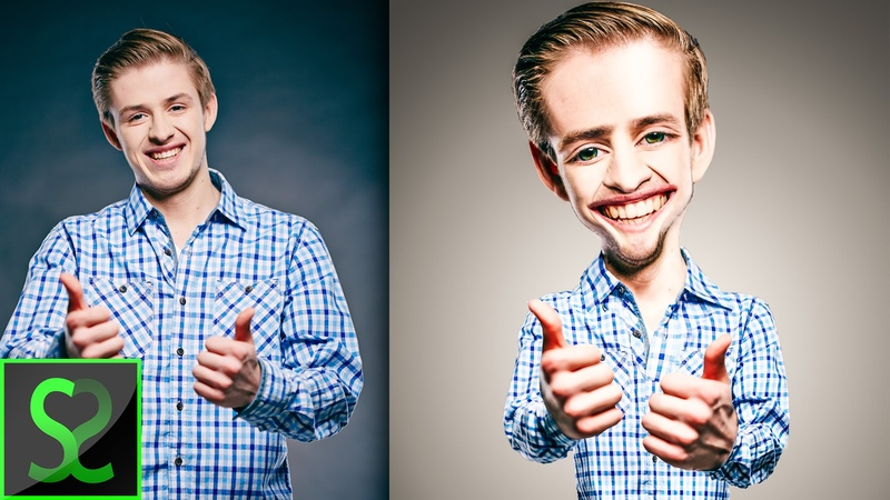 How to make Body Caricature from photo | Photoshop tutorial