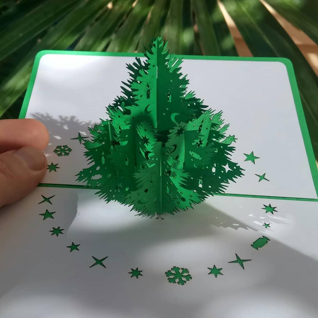 новогодняя объёмная 3d открытка ёлочка хендмейд от Крым-трава Ялта Крым, Россия