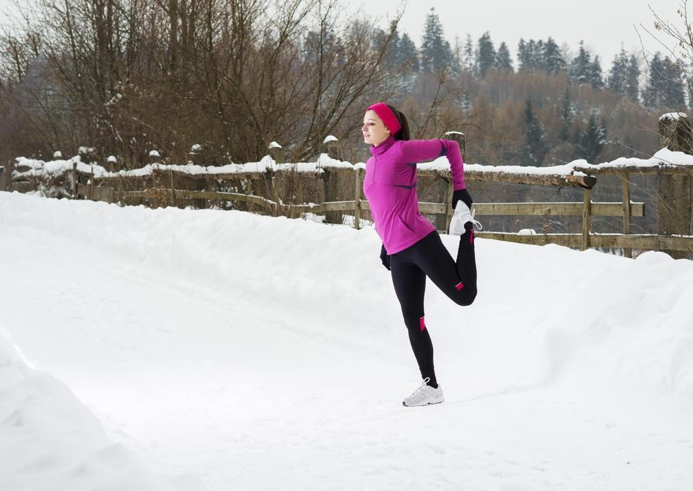 Упражнения на растяжку зимой