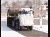 Тренировки по использованию нового комплекса развертывания временных дорог в ЮВО
