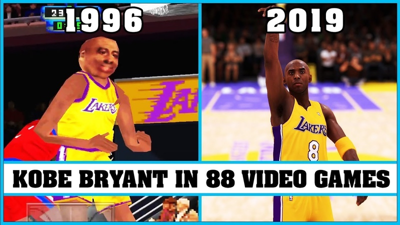 KOBE BRYANT, the evolution in 88 video games [1996 - 2019]