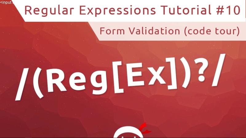Regular Expressions (RegEx) Tutorial 10 - Creating a Form (Start Code Tour)