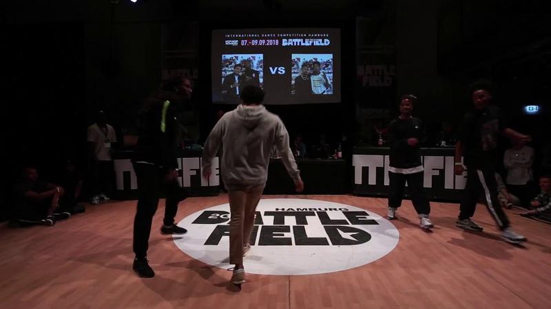 Battlefield 2018 | HipHop 2vs2 quarter final | Kanon Shah-Mo vs Sidney Lil Syd