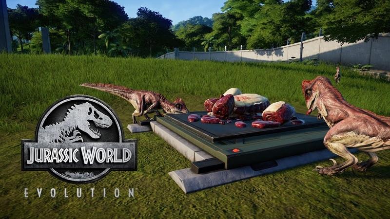 Jurassic World Evolution - Подселили Дейнонихов к Спинозавру! 34