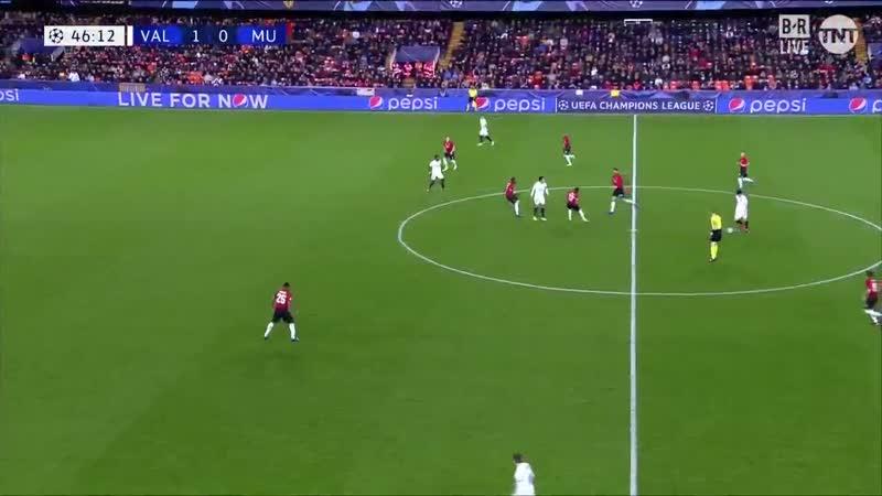 Лига Чемпионов Валенсия - Манчестер Юнайтед 2:1 обзор 12.12.2018 HD