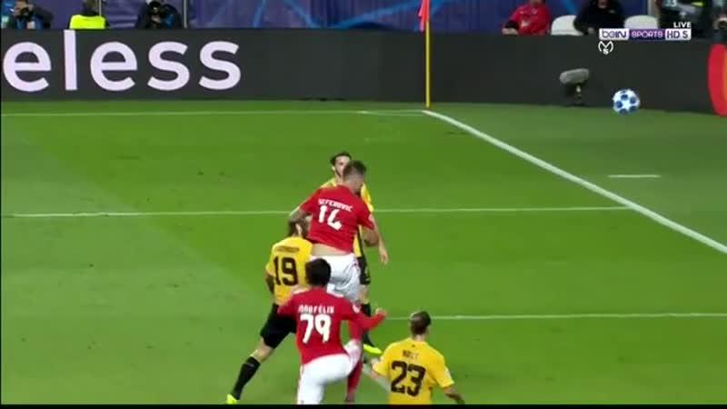 Лига Чемпионов Бенфика - АЕК 1:0 обзор 12.12.2018 HD