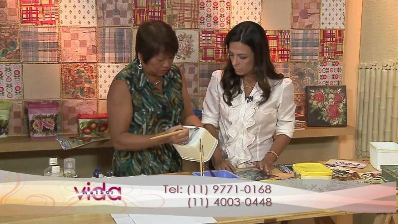 Vida Melhor Artesanato Mamiko ensina Guardanapos Artesanais