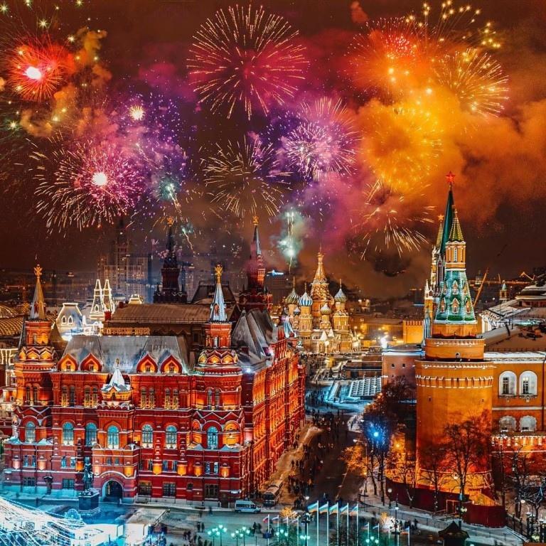 Точки запуска салюта и фейерверков в новогоднюю ночь. Подождите загрузки картинки!