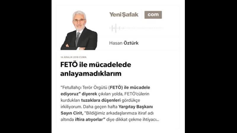 Hasan Öztürk - FETÖ ile mücadelede anlayamadıklarım - 14.12.2018
