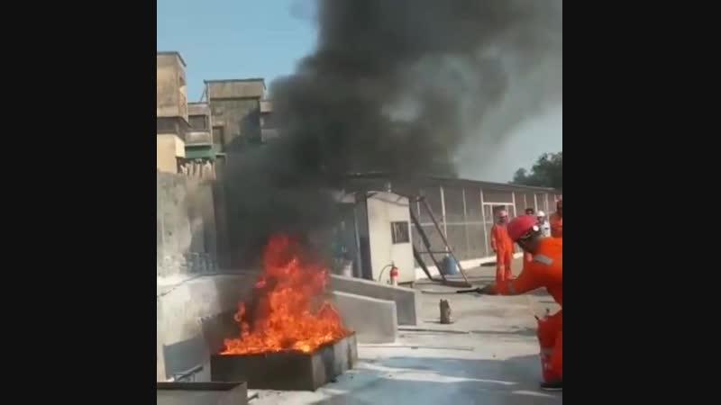 Огнетушитель взорвался