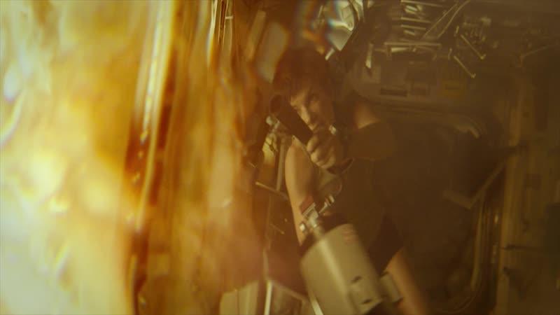 Эпизод из фильма Гравитация часть 5 (Пожара на МКС) FUUL HD 1080p