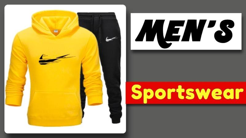 Mens sportswear Sweatshirt With Hood Pants Tracksuit | Buy clothes