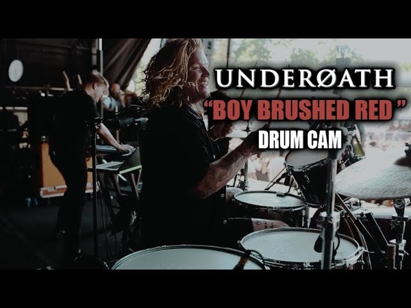 Underoath (Aaron Gillespie) | A Boy Brushed Red | Drum Cam (LIVE)