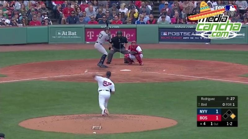 Hector Velazquez participa en la derrota de Medias Rojas de Boston