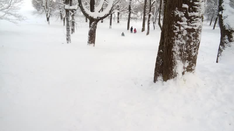 Сумасшедший наездник снежных холмов.