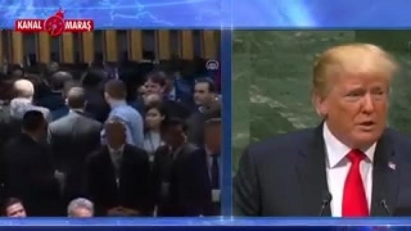Эрдоган демонстративно покинул зал во время выступления Трампа