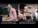 BOHEMIAN RHAPSODY [GOLDEN GLOBE 2019 Best Picture] side by side with Live Aid 1985
