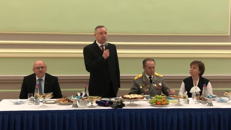 Александр Беглов встретился с ветеранами в преддверии Дня защитника Отечества