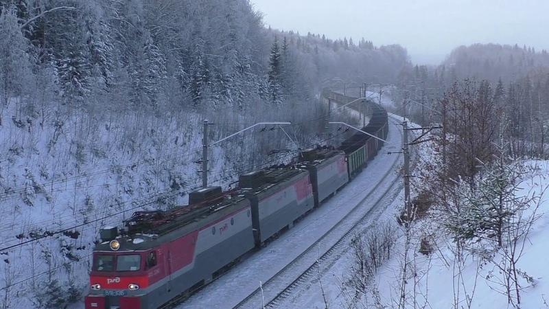 ВЛ11-113 с приветливой локомотивной бригадой!