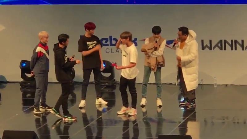 181111 Reebox Classic x Wanna One Fan Event 워너원x리복 팬미팅 A팀 제기차기 2