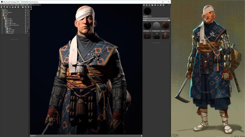 Shinobi | Game Character | Part 7 | Texturing | Substance Painter